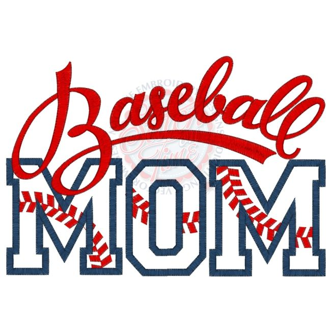 Baseball (100) Baseball MOM Applique 6x10