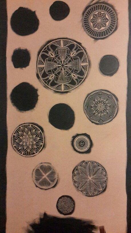 Mandala woodcuts