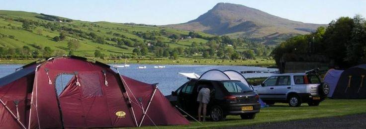 Glanllyn Lakeside Caravan & Camping Park,  Bala, Gwynedd, Wales. Holiday. Travel. Campsite. Outdoors.
