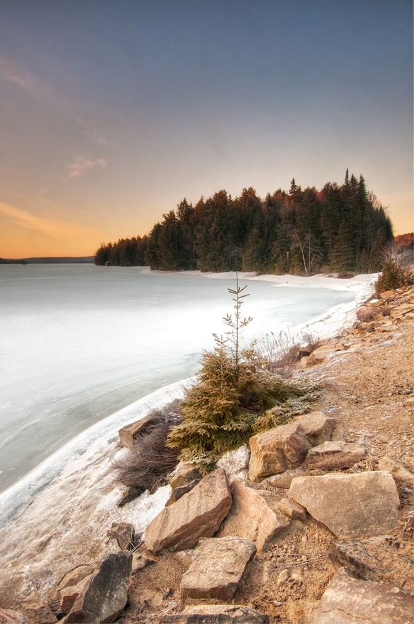 Algonquin Park, Ontario during the winter. #beaches #lakes #parks #Canada #travel