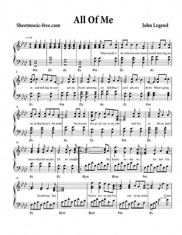 Easy And Popular Piano Sheet Music Piano Sheet Music Free