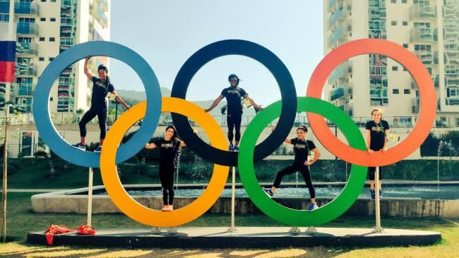 Rio 2016 GymnasticsTeam Olympic Rings…                              …