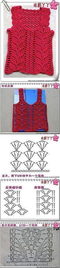 Blusinha de crochê - como fazer