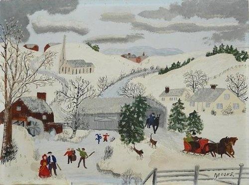Grandma Moses Holiday Paintings: