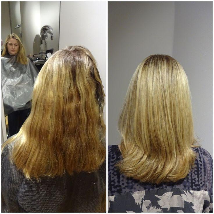 En blond hårfärg med naturlig känsla