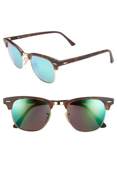 Ray-Ban 'Clubmaster' 49mm Polarized Sunglasses available at #Nordstrom