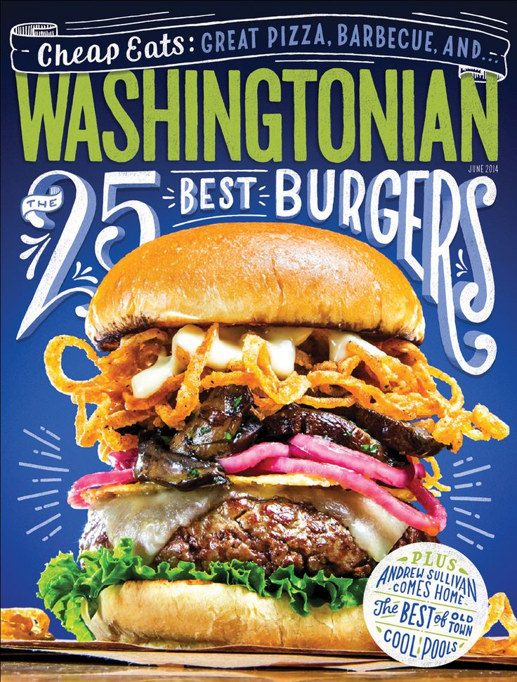 25 Best Burgers in Washingtonian magazine (via Dribble.com).