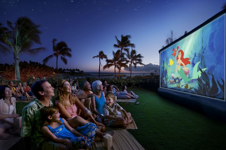 Take a seat on the Events Lawn and watch family-friendly movies under the stars during 'Ohana Disney Movie Nights at Aulani, A Disney Resort & Spa in Hawai'i