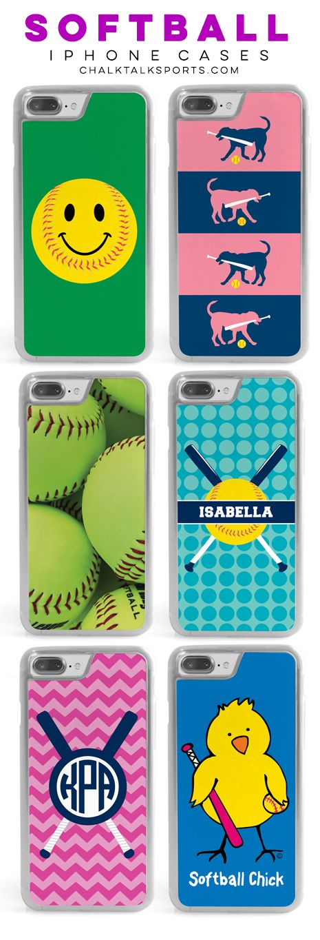Check out some of our latest Softball iPhone cases! From fun colors to custom and personalized options, we have something for every softball player!