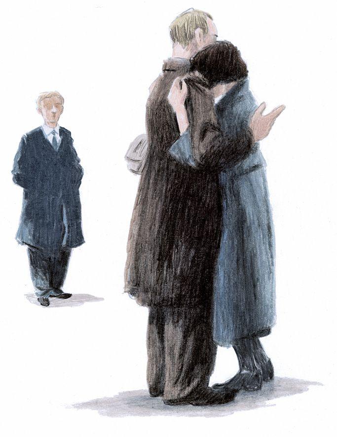 Max si precipitò da lei. Rimasero abbracciati a lungo. La pelle di Erna aveva un leggero profumo di giglio. Max le baciò dolcemente i capelli, erano ben pettinati e di un color mogano appena striato da qualche filo bianco. Poi la baciò sulle labbra.
