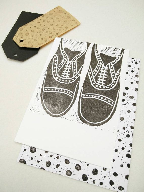 Smart Shoes #Lino cut #Linoprint brogues Oxford formal by JessicaYeong