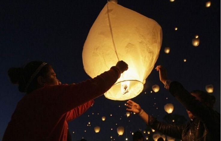 Lámpara de la decoración de la boda de papel blanco linternas chinas del cielo del fuego de la mosca de la lámpara de la vela para las luces deseo del cumpleaños del partido de Navidad en Artículos de Fiesta de Casa y Jardín en AliExpress.com | Alibaba Group
