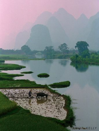 Yangshuo Guangxi Province China Don't spend more than 5 minutes in Guilin, go directly to yangshuo (best way by boat) Moon hill, longji rice terasse
