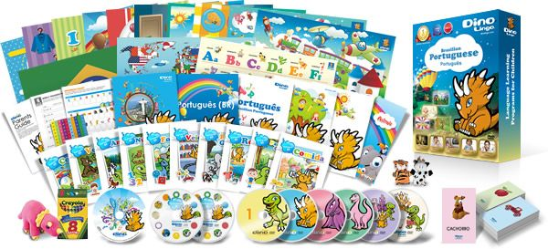 portuguese for kids learning set