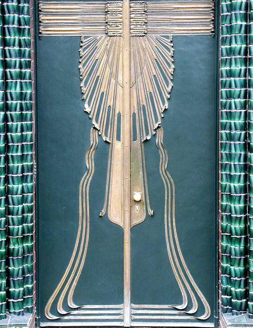 """Door from Peter Behrens house, Darmstadt Detail . . From encyclopedia.com: """"Peter Behrens was born in Hamburg on April 14, 1868. He studied painting at the School of Art in Karlsruhe (1886-1889). He..."""