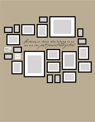 Frames: Photo Layout, Photo Walls, Living Room, Gallery Wall, Family Photo, Wall Ideas