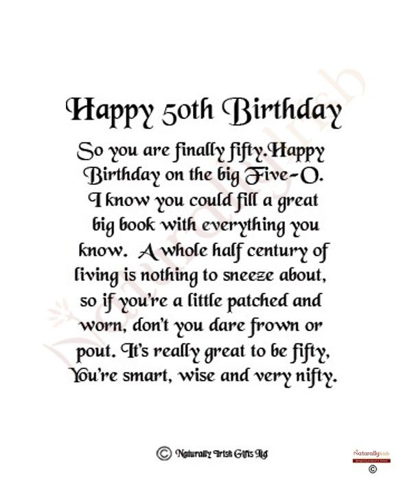 50th Birthday Poems - Google Search