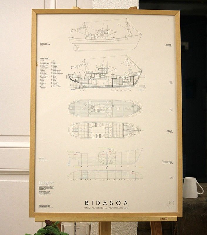 Poster Bidasoa,santiago noain maura,poster barcos de pesca hondarribia  http://www.manoestudio.com/posters/poster-bidasoa-santiago-noain-maura.html