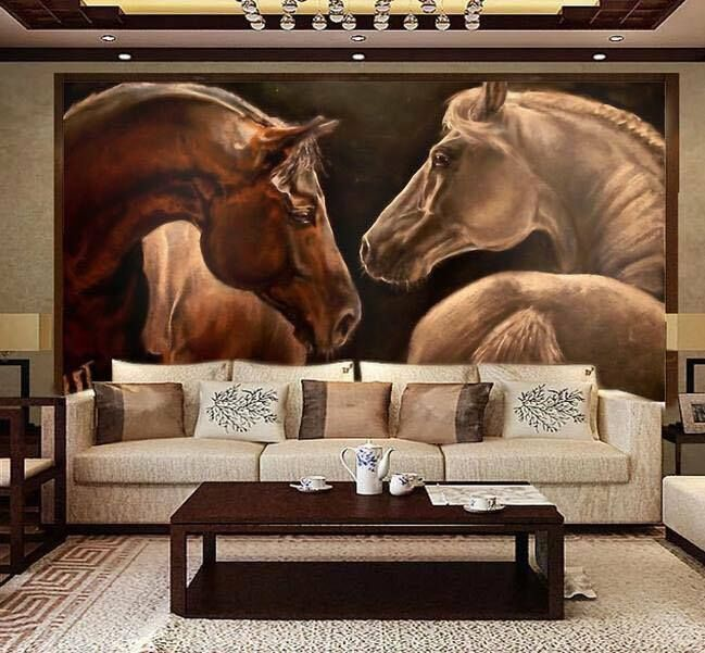 A Big Horse Mural In My Living Room Not For Me But I Am Sure There Are Other People Who Would Like This