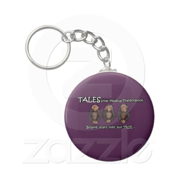 TFMT PURPLE Keychain Keychain Medical TranscriptionRound Button