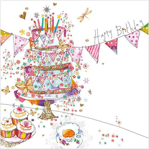 Phoenix Trading greetings card - Birthday Tea.  Blank for your own message.  £1.75 or buy 10 cards and get 2 free!
