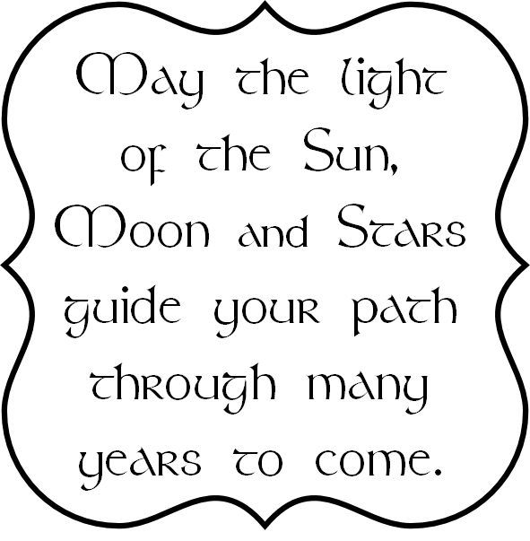 Pagan Birthday Blessing | has the pagan birthday blessing verse inside the bracket frame