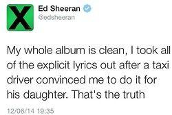 Ed Sheeran tweets