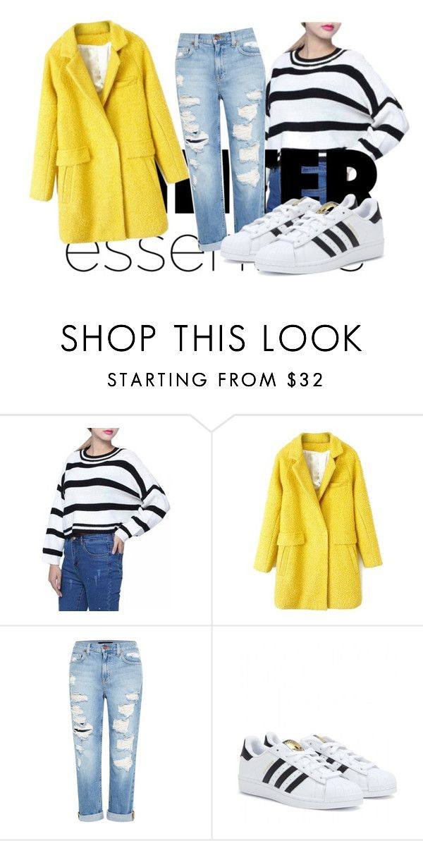 """Untitled #35"" by manalain ❤ liked on Polyvore featuring Genetic Denim and adidas"
