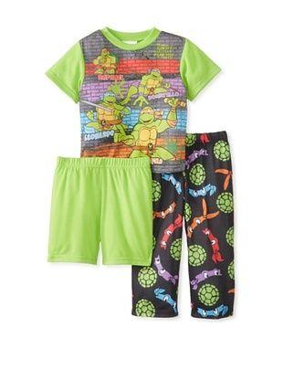 56% OFF Kid's Ninja Turtle 3-Piece Pajama Set (Black)
