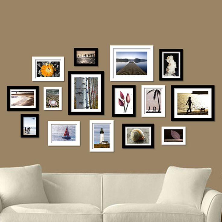 Les 25 meilleures id es de la cat gorie cadre mural disposition sur pinterest - Cadre decoratif pour salon ...