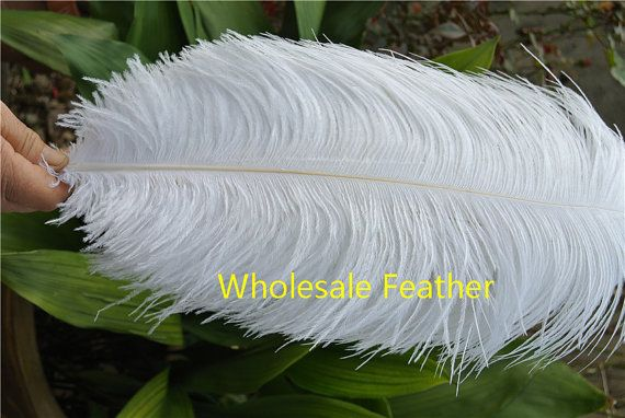 100 pcs WHITE ostrich feather plumes for wedding centerpieces wedding decor