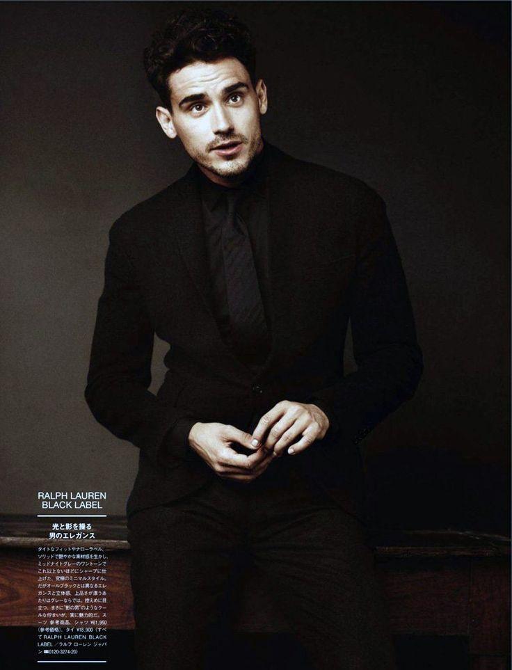 black on black suit, styling