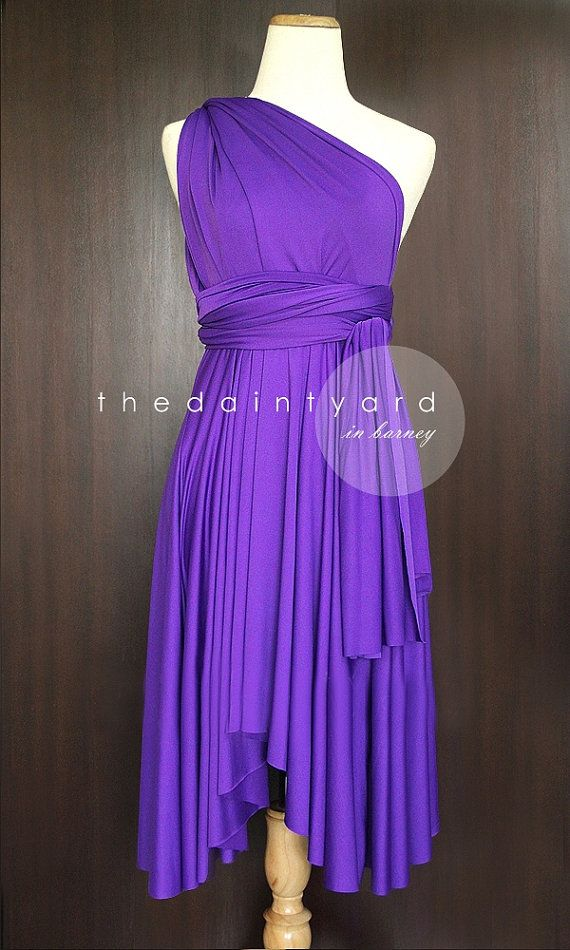 Barney Bridesmaid Convertible Dress Infinity Dress Multiway Dress Wrap Dress Bright Purple Wedding Dress