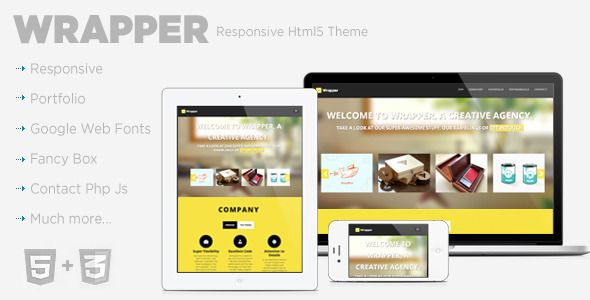 Wrapper Responsive Template . Wrapper has features such as High Resolution: No, Compatible Browsers: IE8, IE9, Firefox, Safari, Opera, Chrome, Compatible With: Bootstrap 2.1.0, Columns: 4+