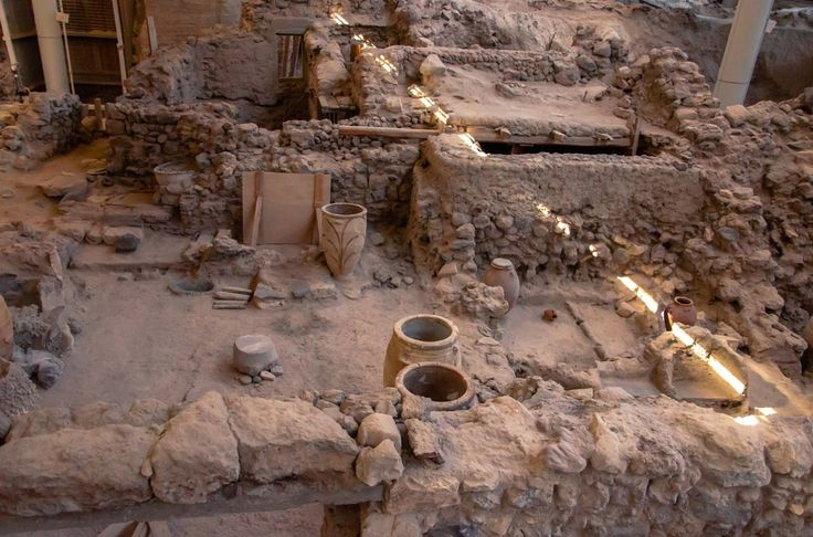 Remarkably preserved artifacts are revealed from the ruins of ancient Akrotiri, Greece.