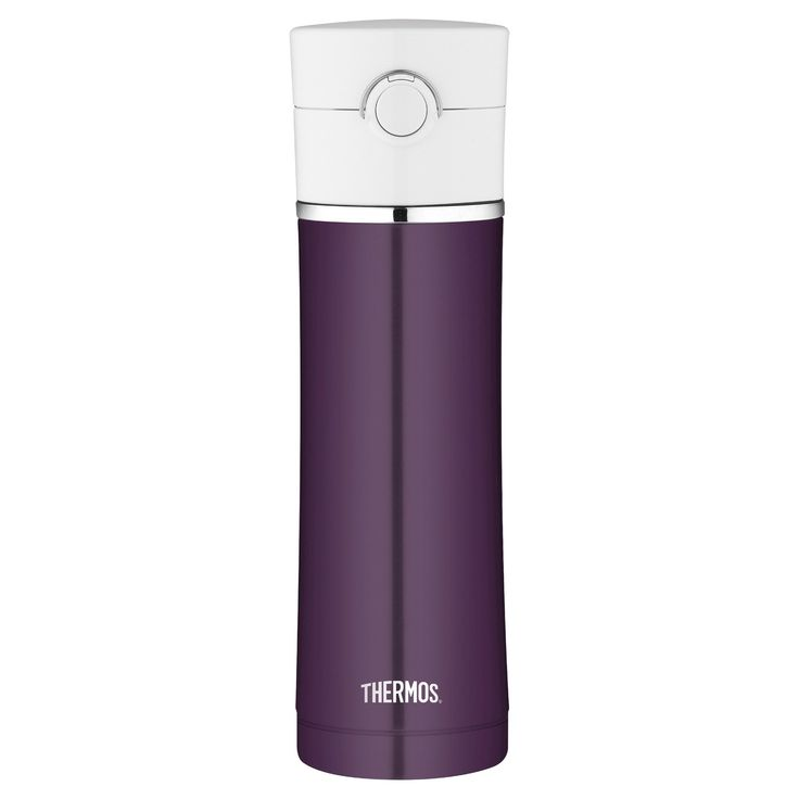 Thermos Water Bottle Stainless Steel 16 oz - Silver
