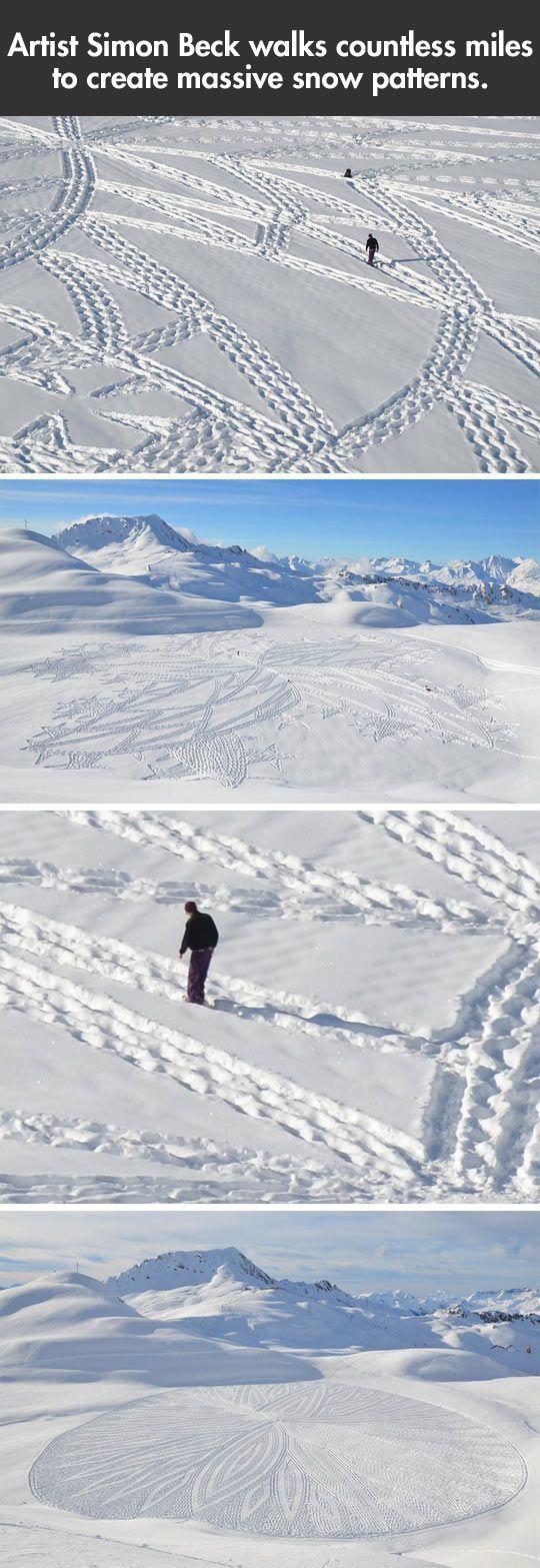 Massive snow patterns…