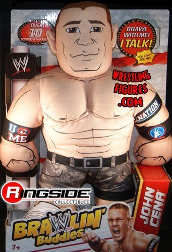JOHN CENA - WWE BRAWLIN BUDDIES TOY WRESTLING ACTION FIGURE by MATTEL. $39.99. Over 10 sounds & phrases!. Real Superstar voices!. Figure is 15 inches tall!. Brawl with your favorite WWE Superstars!. JOHN CENA - WWE BRAWLIN BUDDIES TOY WRESTLING ACTION FIGURE