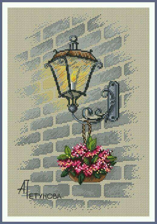 Street lamp Crossstitch