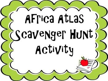 Students need an Atlas to answer questions about Africa's geography. This activity goes beyond learning the physical/political features and has students look at different types of maps to come up with their answer.Topics Covered: the Sahara, Sahel, savanna, tropical rain forest, Congo River, Niger River, Nile River, Lake Tanganyika, Lake Victoria, Atlas Mountains, and Kalahari Desert, Democratic Republic of the Congo (Zaire), Egypt, Kenya, Nigeria, South Africa, Sudan, and South Sudan.