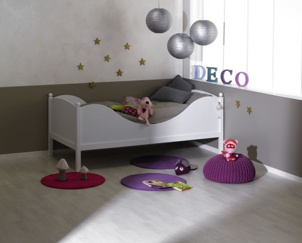 "Kid's Single Bed ""Color White"""