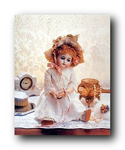 Add stunning beauty to your home with this doll on a dresser art print poster. This decorative wall poster adds a charming ambiance to your home decor. It would be a perfect addition for any teen age girl bedroom. Hurry up and order this poster for its excellent quality with high degree of color accuracy.