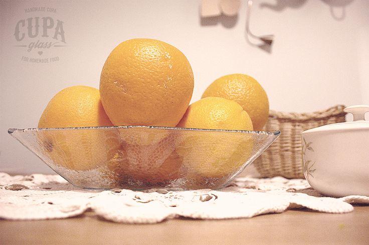 #Handmade #Fruit #Bowl Transparent glass fruit bowl by www.cupa.glass