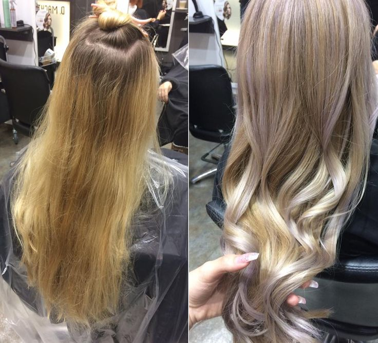 Frisuren Vorher-Nachher, Kreative Haarfarben, Pastell Haare, Langhaar, Haarfarben Trends 2018, Friseur in Berlin, Friseursalon D. Machts Style – Alexa…