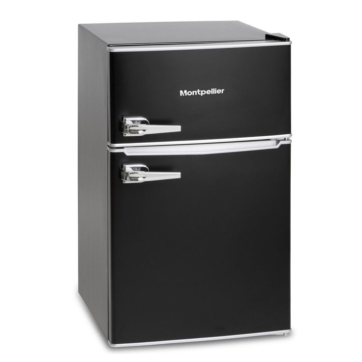 Buy the Montpellier MAB2030K Under Counter Retro Style Fridge Freezer in Black, A+ from Sonic Direct for only £189.00 today.