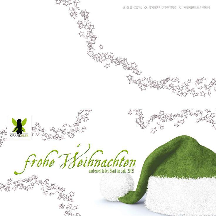 Weihnachtskarte grüne Mütze, Grafikelfe 2011
