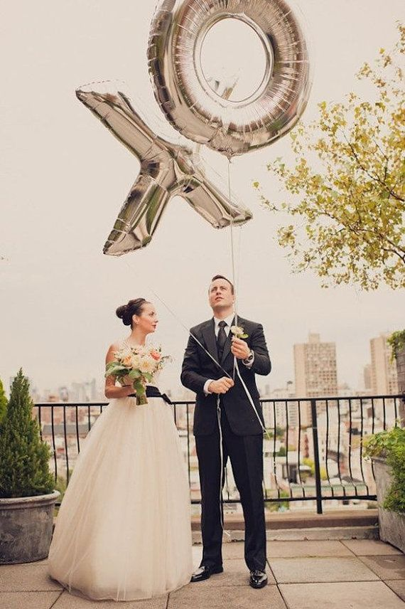 40 Inch Giant Letter Balloons / Wedding / Happy by supplyandco