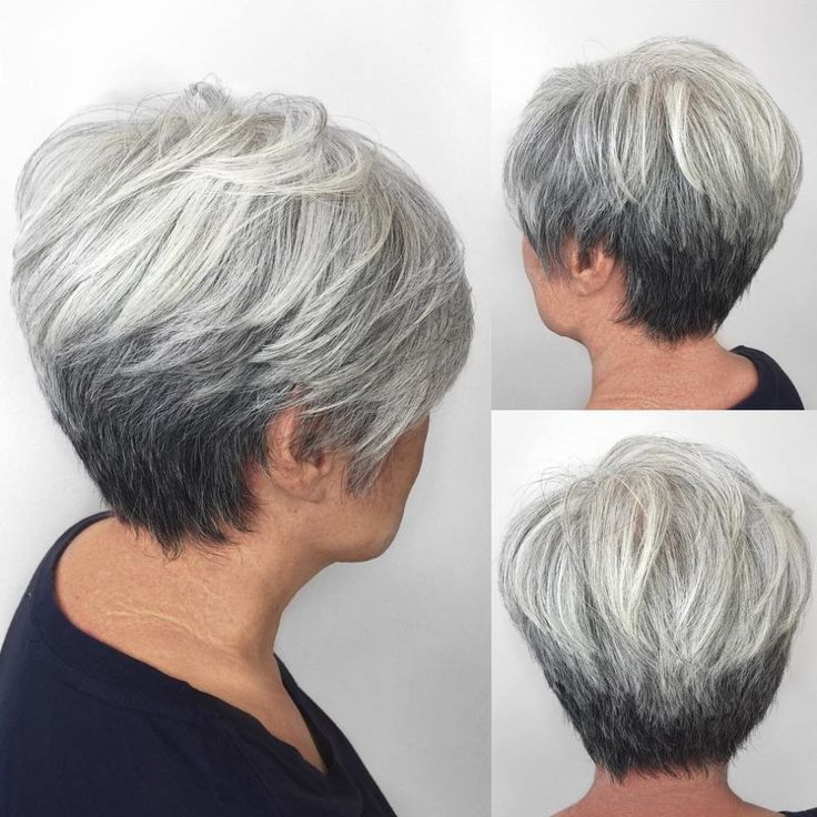 "Gray Tapered Pixie For Women Over 50 [ ""80 Respectable Yet Modern Hairstyles for Women Over 50"", ""Having one of the cute bob haircuts 2016 and then style it flatteringly must be effective to create gorgeous look every day. Bob is trendy haircut that is suitable for every age."", ""Classic Blonde Bob Bob hairstyle is timeless and ageless. This one with a side parting and accurate grading for the tresses, framing the face, suits women over 50 with fine straight hair perfectly."", ""Short Au..."