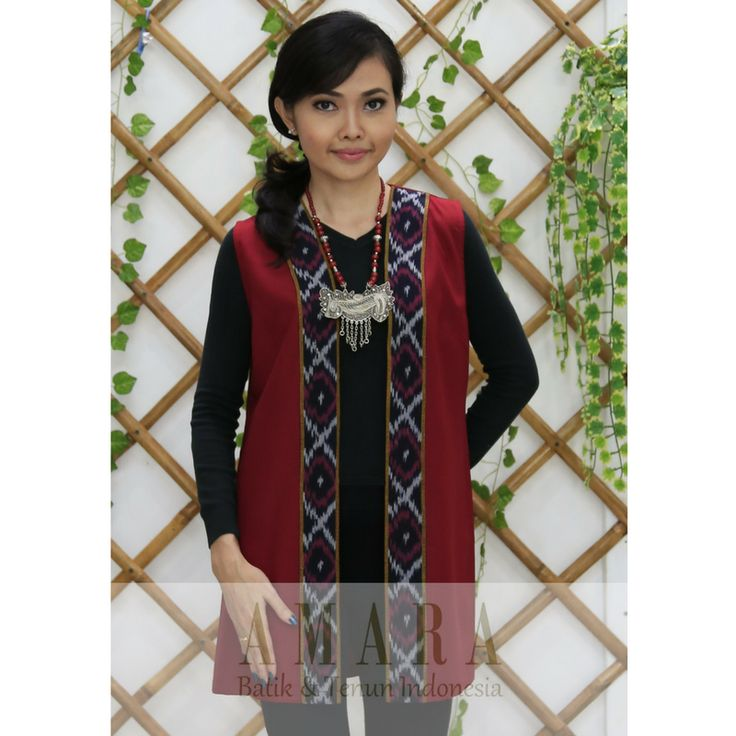 Long Vest Tenun Jepara www.amarabatik.com