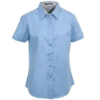Port Authority Womens Light Blue Short Sleeve Shirt L508 LBL